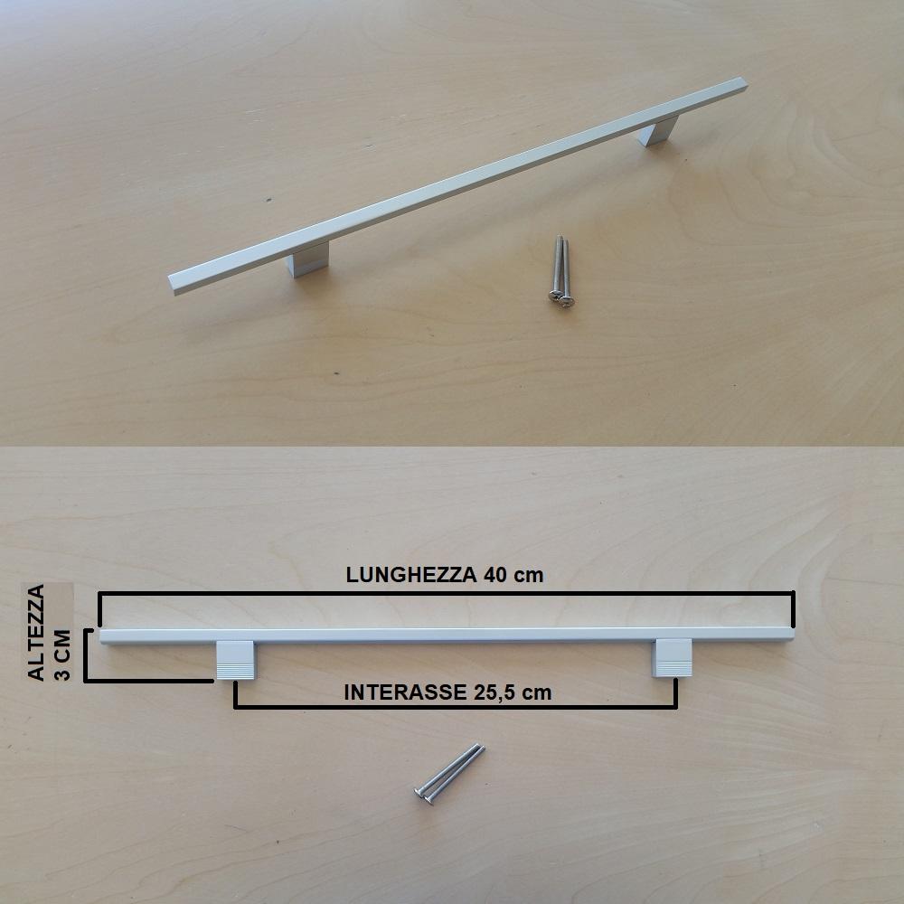 Maniglie Ad Incasso Per Armadi dettagli su maniglia satinata da cucina, armadio, cassetto. alluminio  satinato, 255mm
